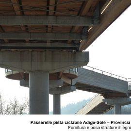Passerelle pista ciclabile Adige-Sole a Affi (VR)