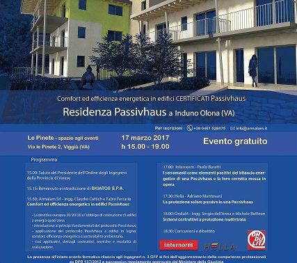 Convegno Passivhaus a IndunoOlona il 17/03